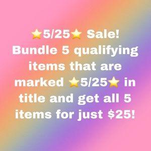 ⭐️5/25⭐️ sale! Bundle & save!